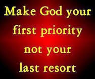 God first priority