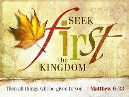 obey seek first