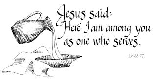 Jesus serves
