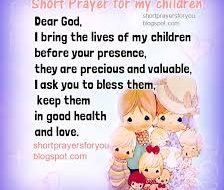 Biblical Prayer for our Children