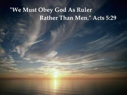obey not man