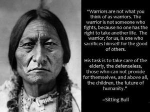 warrior sitting bull