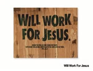 work for Jesus