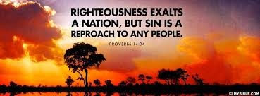 righteousness exalts