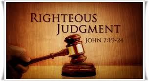 judge righteous