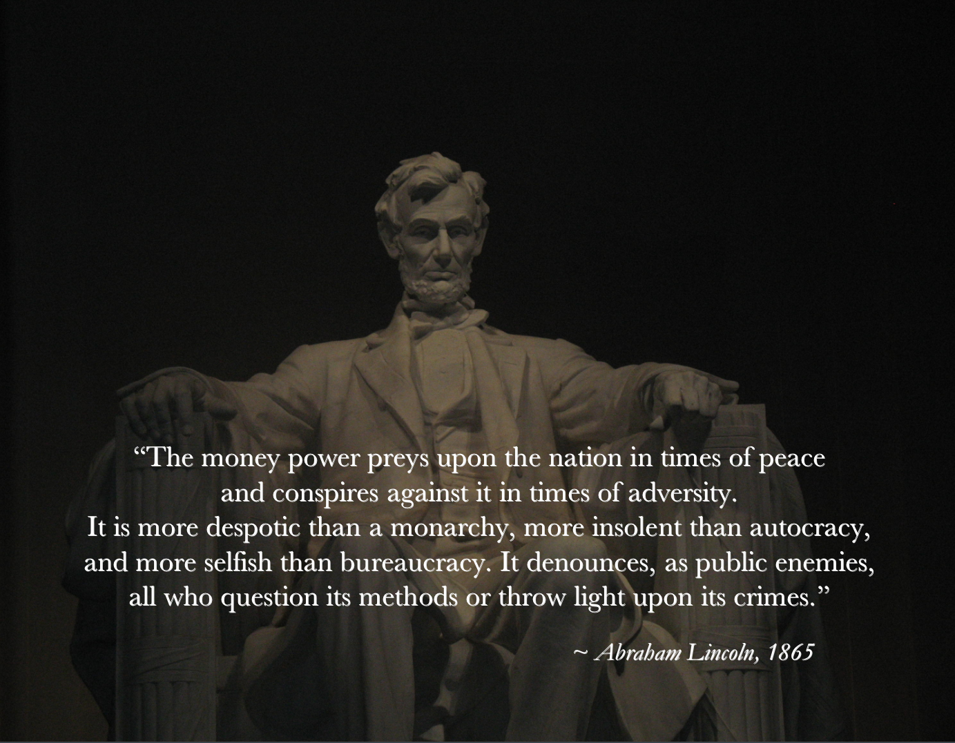 Lincoln on The Money Power